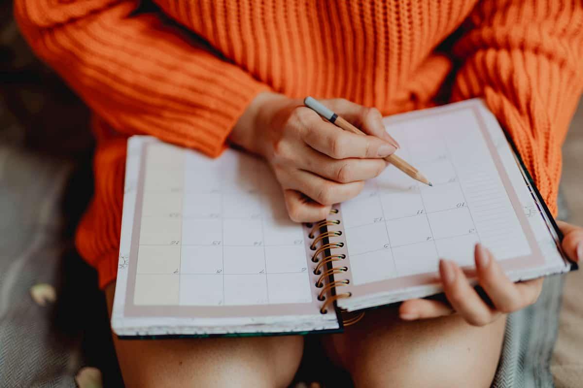 手帳に目標を書く手順